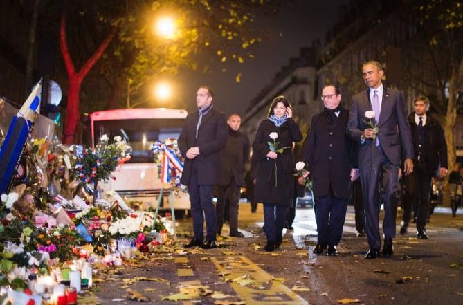 Anne Hidalgo, François Hollande et Barack Obama.