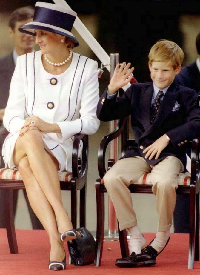 Lady Diana et le prince Harry