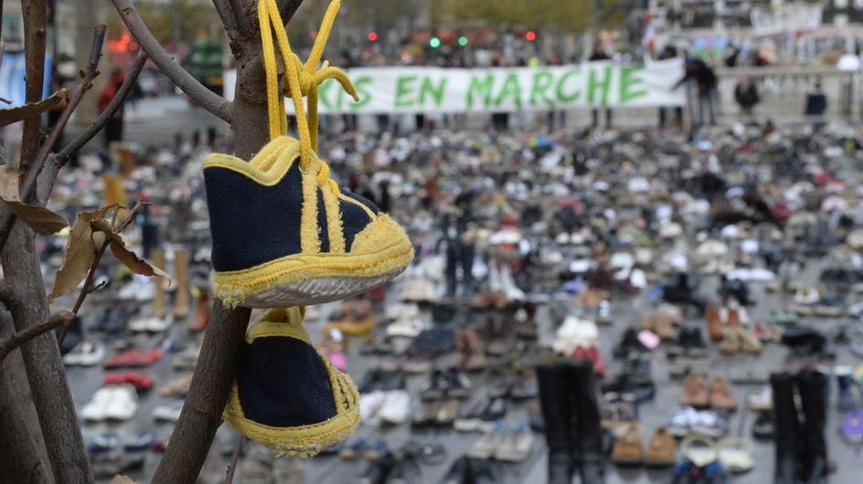 COP21 : Des milliers de chaussures ont recouvert la Place de la République (Photos)