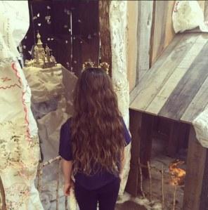 Les longs cheveux de Valentina, la fille de Salma Hayek
