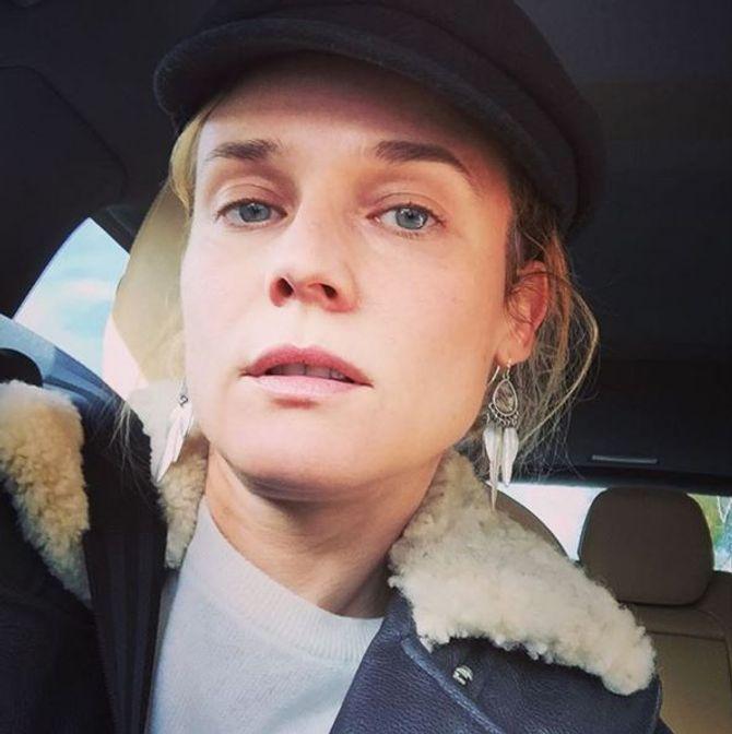 Diane Kruger sans maquillage.