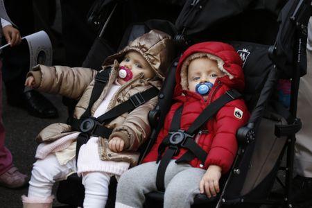 Jacques et Gabriella, les jumeaux du prince Albert et de la princesse Charlène