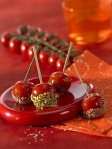 Tomates cerises en pommes d'amour