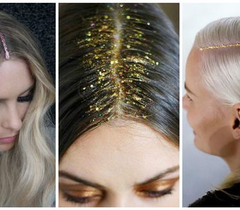 Passez aux glitter roots, la coiffure pailletée qui nous fait rêver