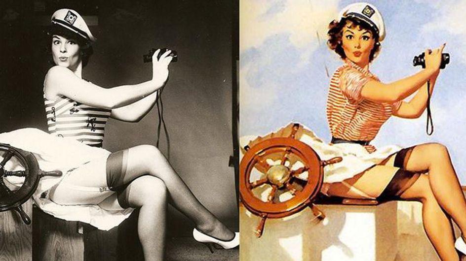 Así trabajaban las modelos del pasado cuando no existía Photoshop