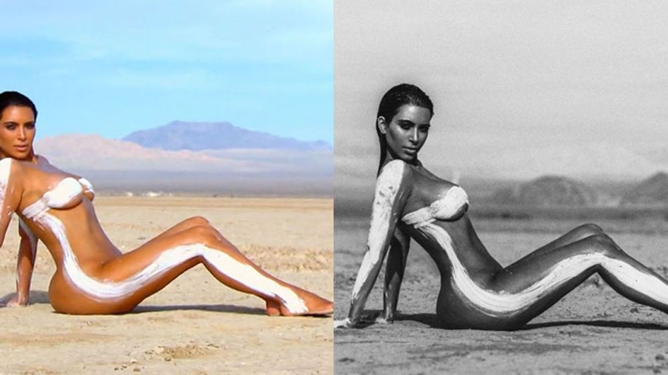 People Are Freaking Out About Kim Kardashian's Heavily Photoshopped Desert Photoshoot