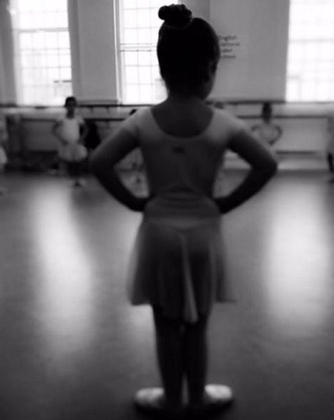 Harper Beckham dans sa tenue de ballerine