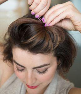 Frisur für kurze Haare mit Retro-Charme