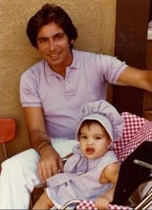 Kim Kardashian bébé et son père Robert Kardashian