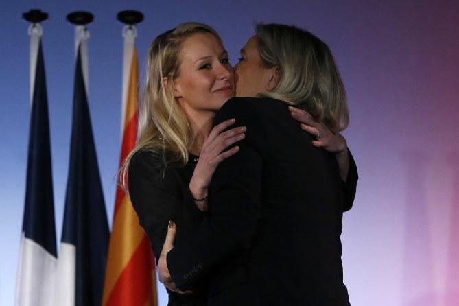 Marion Maréchal-Le Pen et Marine Le Pen.