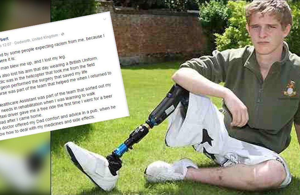 Ein Muslim nahm ihm das Bein - und trotzdem ist Fremdenhass für ihn kein Thema