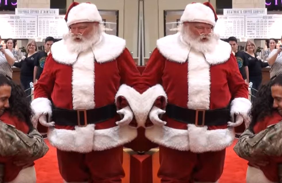 Santa Helps Army Dad Surprise His Daughters And It Is Simply Adorable