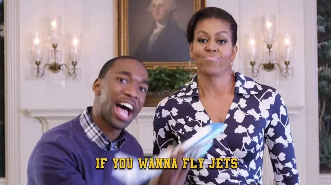 Michelle Obama et Jay Pharoah