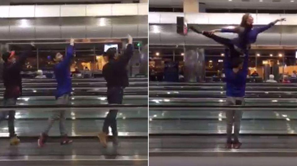 DAS machen Balletttänzer, wenn sie 5 Stunden am Flughafen feststecken