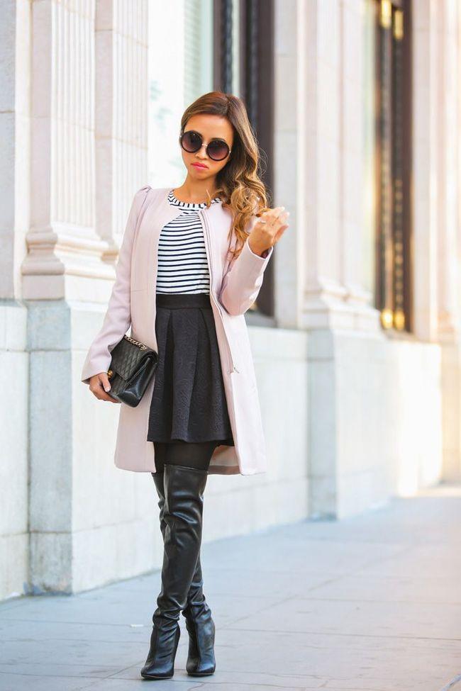 outfit con stivali neri