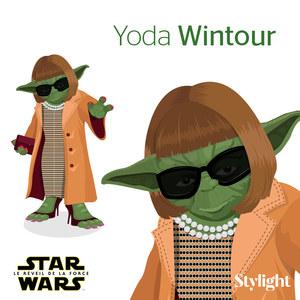 Anna Wintour en Yoda Wintour façon Star Wars