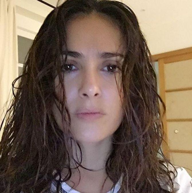 Salma Hayek sans maquillage