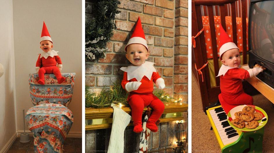 Papà fotografo trasforma suo figlio in un elfo di Natale: il risultato è sorprendente!