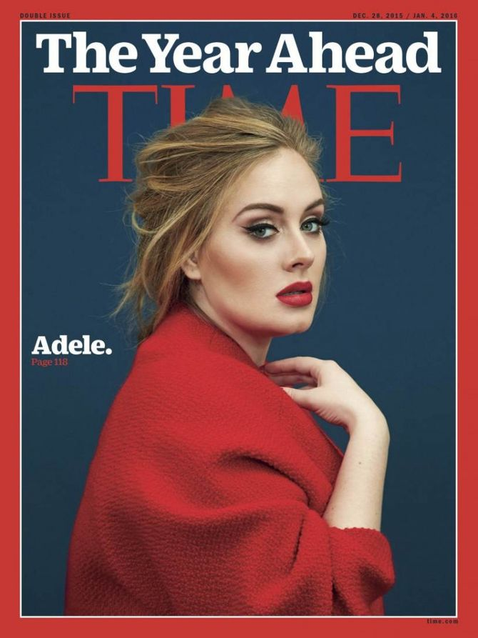 Adele en couverture du magazine Time