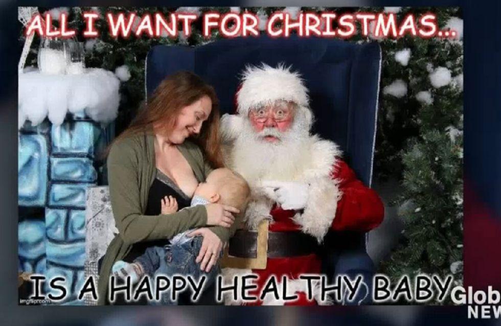 Das Foto dieser Mutter mit dem Weihnachtsmann wird im Netz gerade heiß diskutiert
