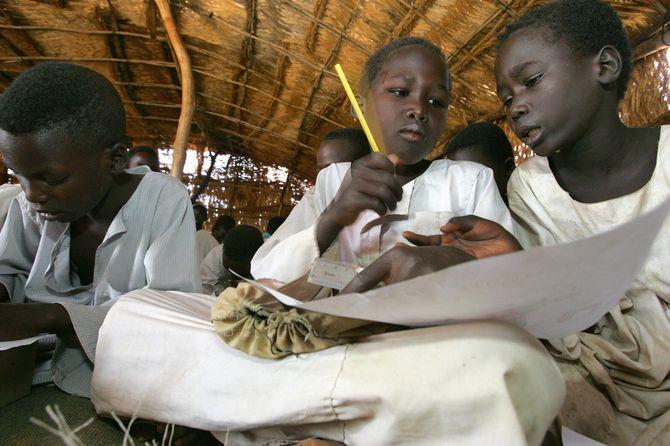 Des écoliers au Tchad