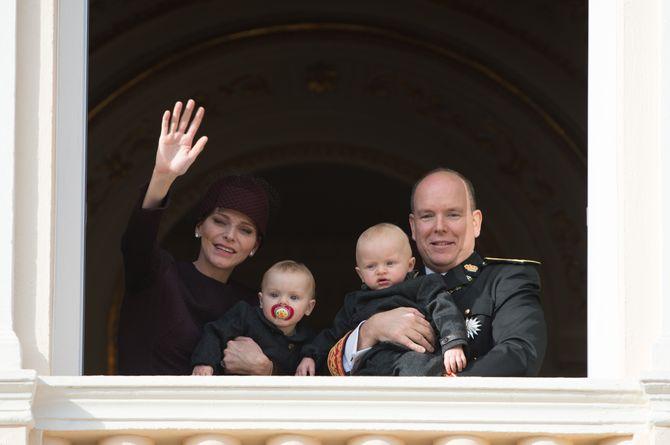 Charlène et Albert de Monaco avec leurs jumeaux