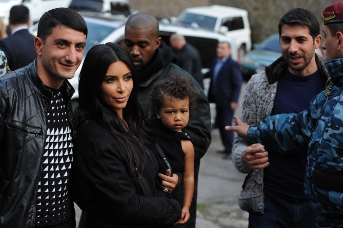 Kim Kardashian et North