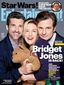 Le casting de Bridget Jones 3 en couverture d'Entertainment Weekly