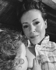 Alyssa Milano et sa fille Elizabella