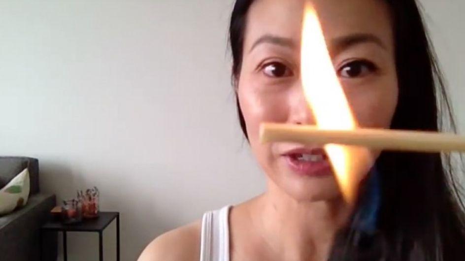 [Vídeo] Rizarse las pestañas con fuego, el último truco de belleza loco de internet