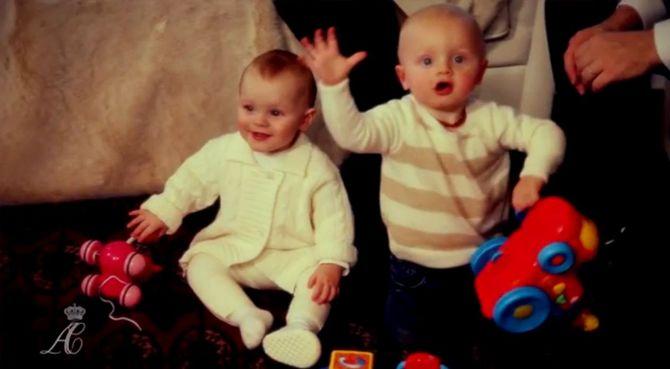 Gabriella et son frère Jacques, les jumeaux de Monaco