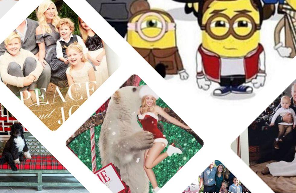 Découvrez les cartes de vœux personnalisées des stars pour célébrer la nouvelle année (photos)