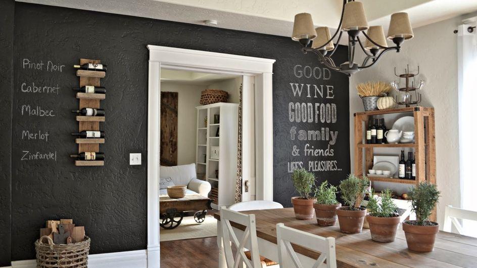 """Deco """"efecto pizarra"""": lienzos de tiza para la casa"""