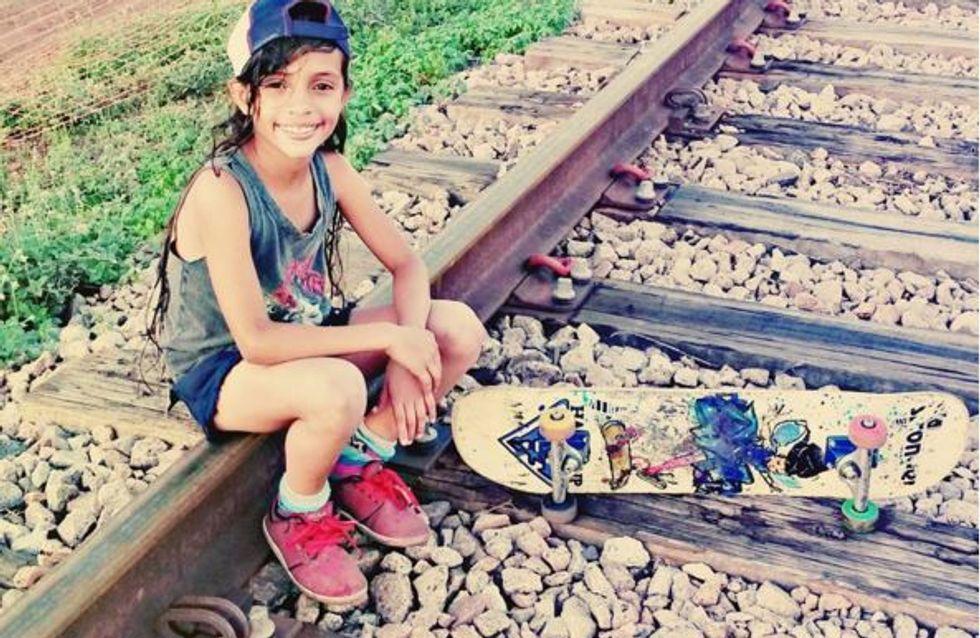 A 7 ans, cette petite skateuse brésilienne a conquis la Toile (Vidéos)