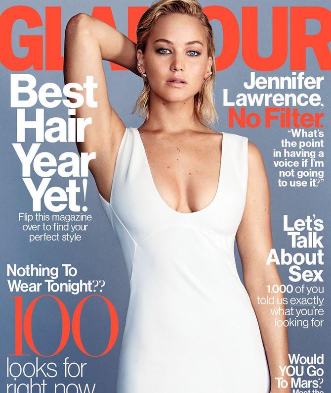 Jennifer Lawrence pour Glamour