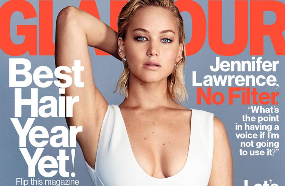 Jennifer Lawrence simplement sexy pour Glamour (Photos)