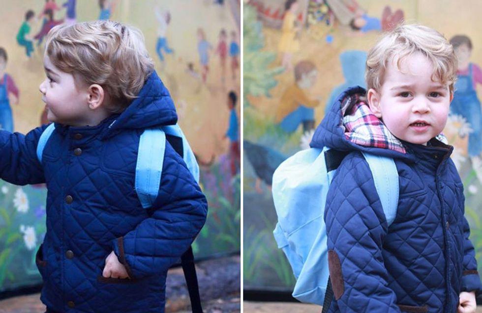 Il primo giorno d'asilo del piccolo George: ecco le tenere foto scattate da mamma Kate!