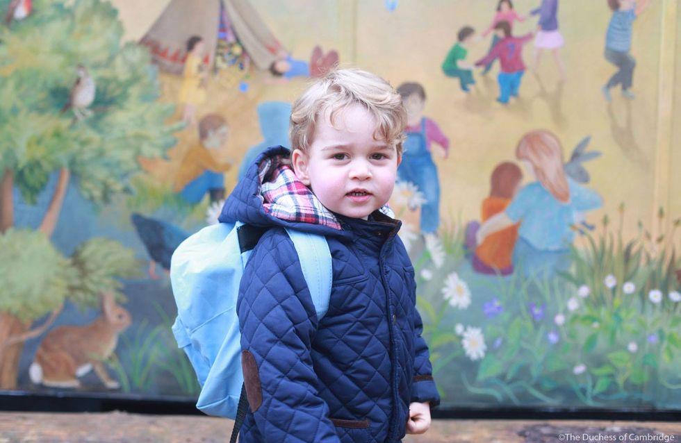 Stolze Mama: Herzogin Kate zeigt Bilder von Prinz Georges erstem Kindergartentag