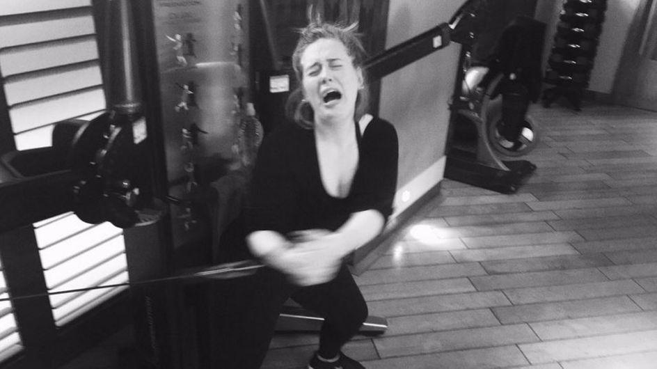 Einfach nur sympatisch: Sängerin Adele beweist, dass auch Stars beim Sport leiden