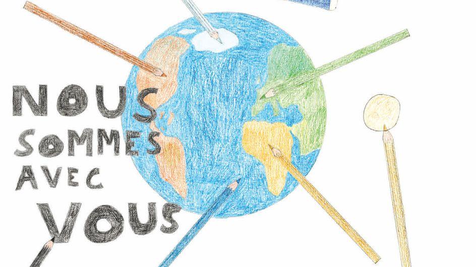 Après Charlie, la jeunesse dessine pour la liberté d'expression (Images)
