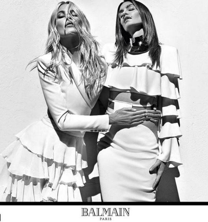 Claudia Schiffer et Cindy Crawford pour Balmain