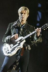 David Bowie et sa guitare