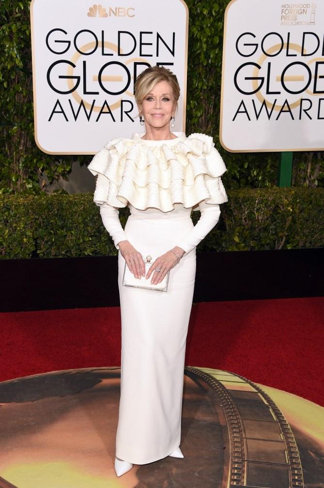 Jane Fonda aux Golden Globes 2016