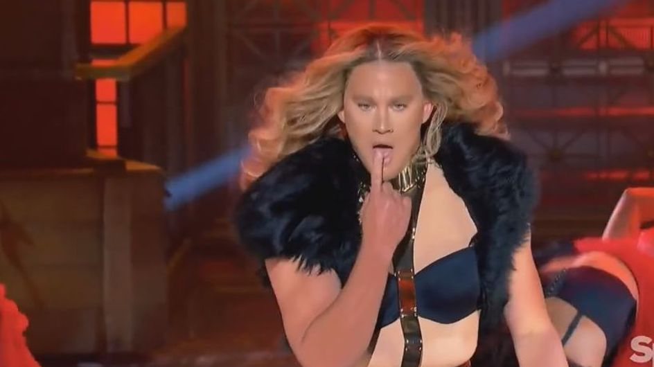 """Channing Tatum vestito da Beyoncé balla e """"canta"""" Run The World"""