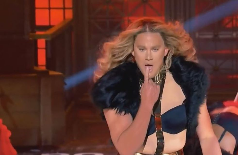Channing Tatum vestito da Beyoncé balla e canta Run The World