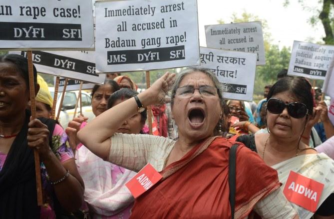Une manifestation contre le viol