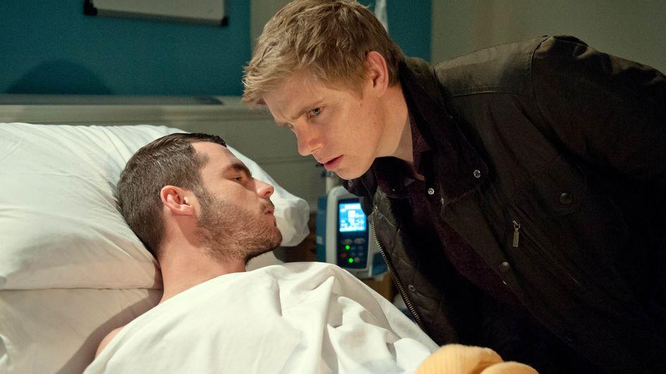Emmerdale 19/1 - Robert realises Aaron is self-harming