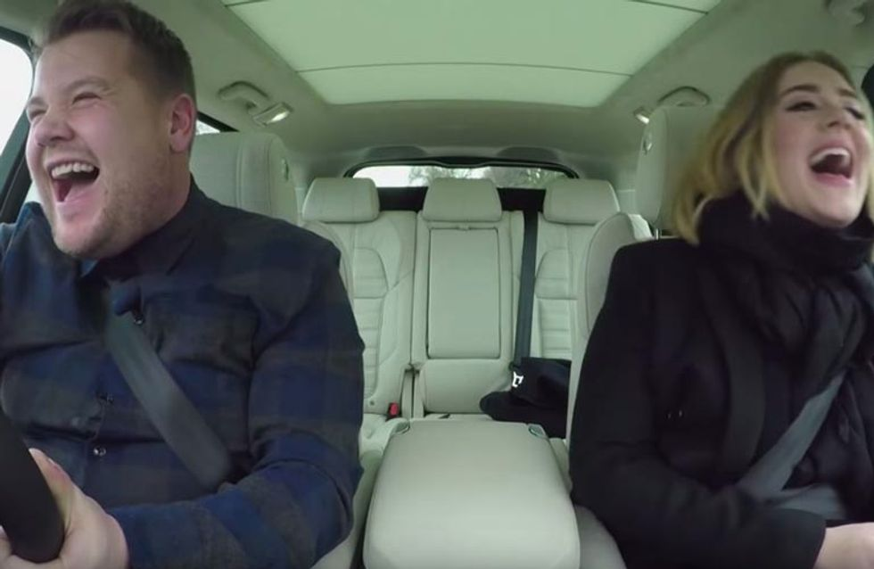 Adele And James Corden's Singalong For Carpool Karaoke Is EVERYTHING