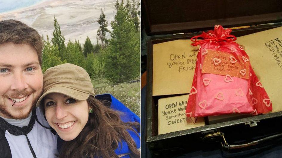 Wie sie ihren Freund aus 2.400 Kilometer Entfernung überrascht, geht einfach ans Herz