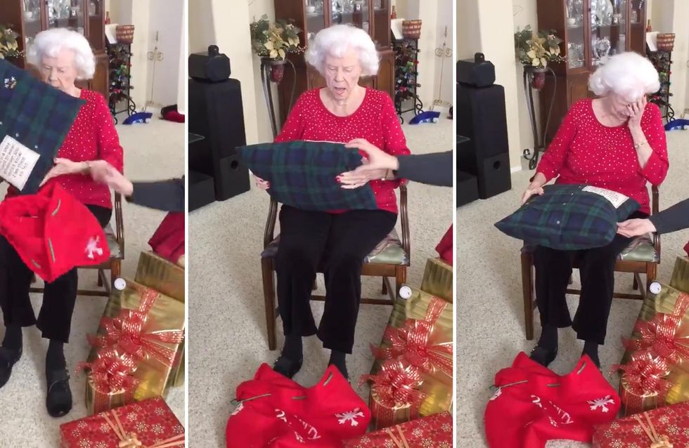 Diese Witwe ist von dem einmaligen Geschenk ihrer Familie zu Tränen gerührt